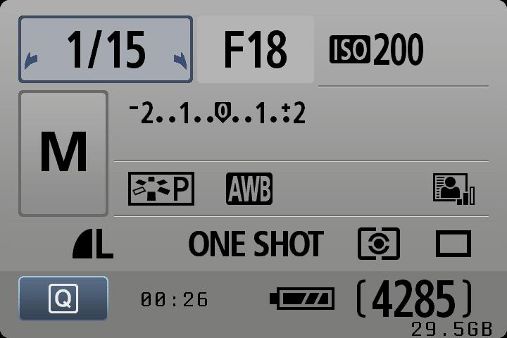 Canon Settings