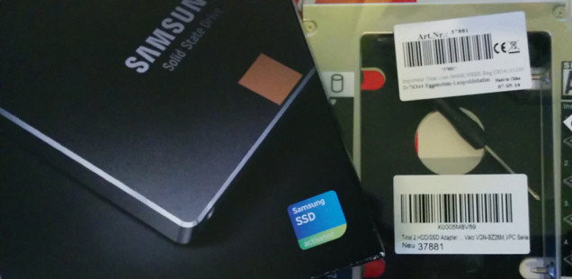 SSD und HDD Caddy